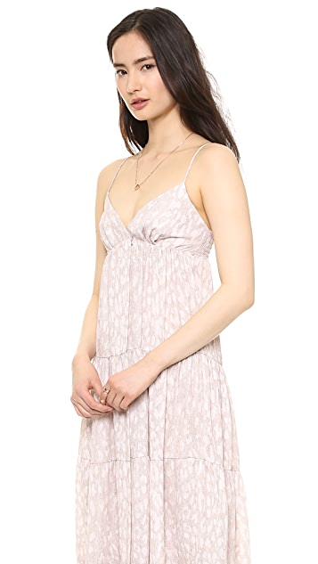 L'AGENCE Tiered Maxi Dress