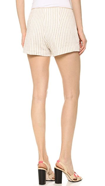 L'AGENCE Shorts with Trim