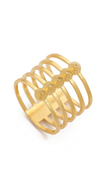 L'AGENCE Stacked Mini Point Ring