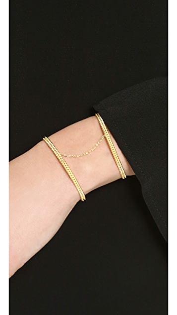 L'AGENCE Double Spike Cuff Bracelet