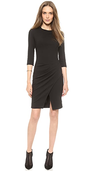 L'AGENCE Pleated Side Dress