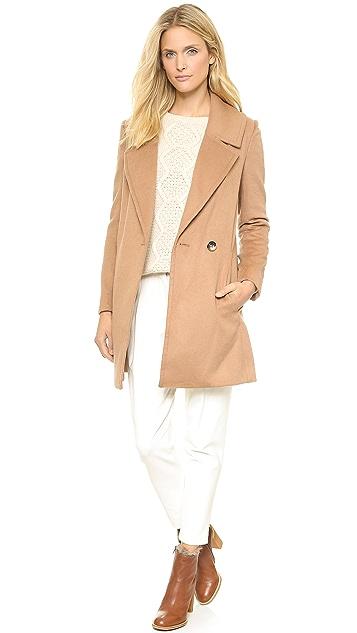 L'AGENCE Notch Collar Coat
