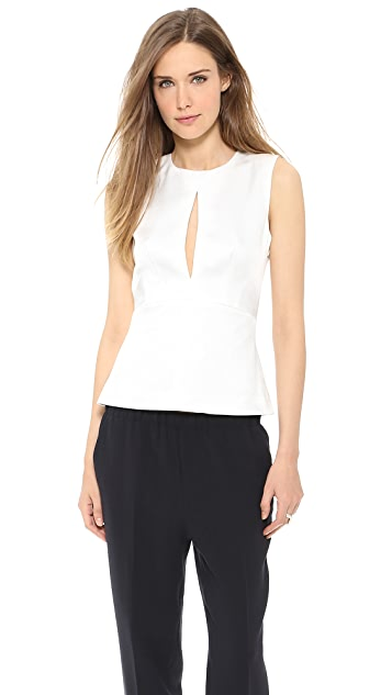 L'AGENCE Triangle Cutout Top