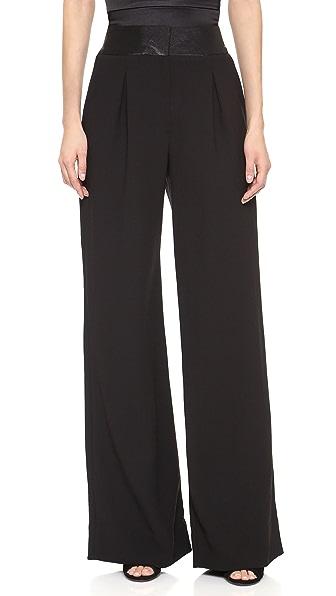 L'AGENCE High Waist Trouser with Contrast Waistband