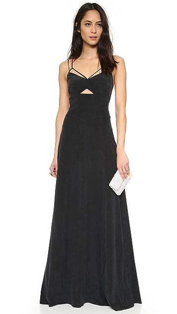 L'AGENCE Elsa Cutout Maxi Dress