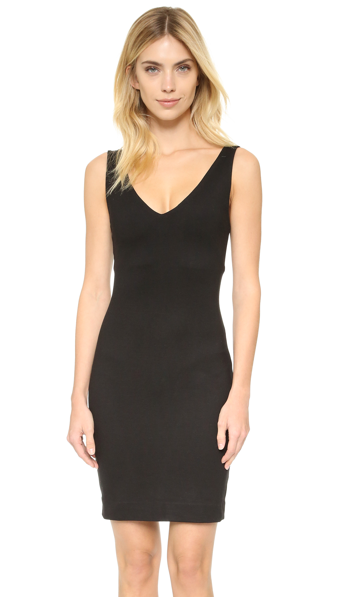 L agence black long dress coat