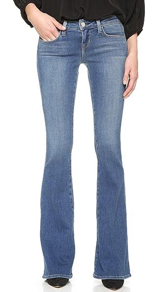 L'AGENCE Расклешенные джинсы Elysee с низкой посадкой