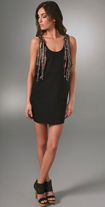 Larsen Gray Shoulder Vest Dress