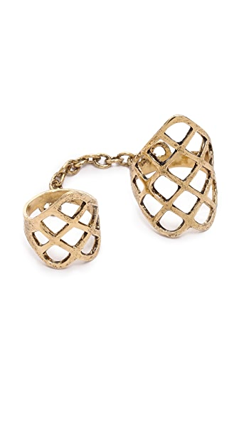 Lady Grey Double Lattice Ring