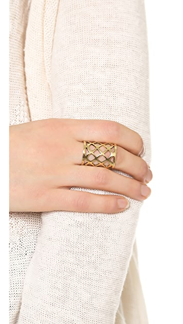 Lady Grey Lattice Ring