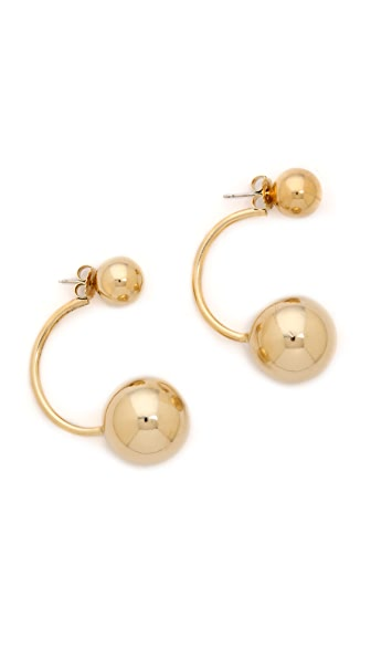 Lady Grey Double Sphere Earrings