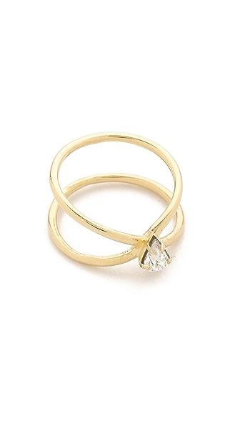 Lady Grey Crystal Aurora Ring