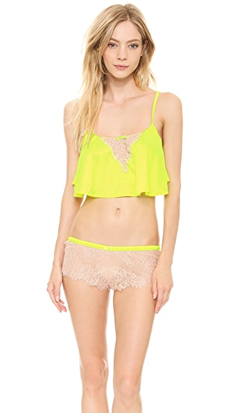 Love Haus Lovely Eyelash Flyaway Crop Cami