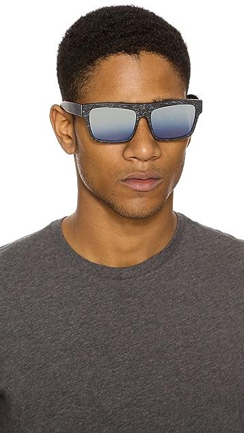 Linda Farrow for 3.1 Phillip Lim Blue Mirror Sunglasses