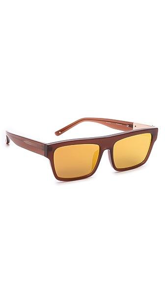 Linda Farrow for 3.1 Phillip Lim Gold Mirror Sunglasses