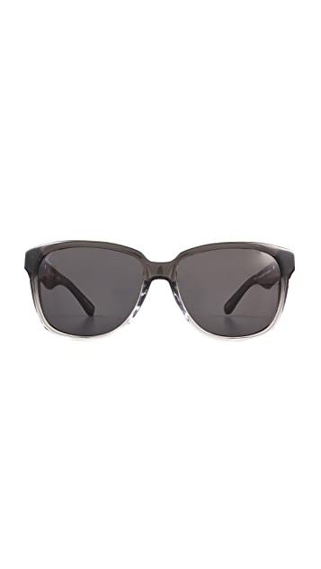 The Row Ombre Leather Detail Sunglasses