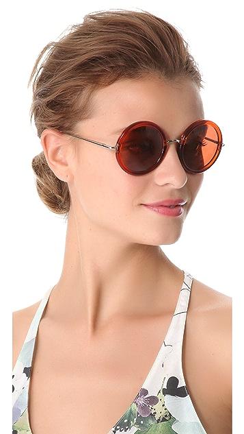 The Row Oversized Round Sunglasses