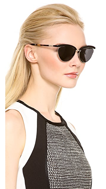 The Row Top Rim Sunglasses