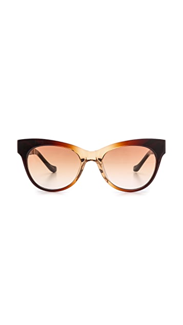 The Row Cat Eye Leather Sunglasses