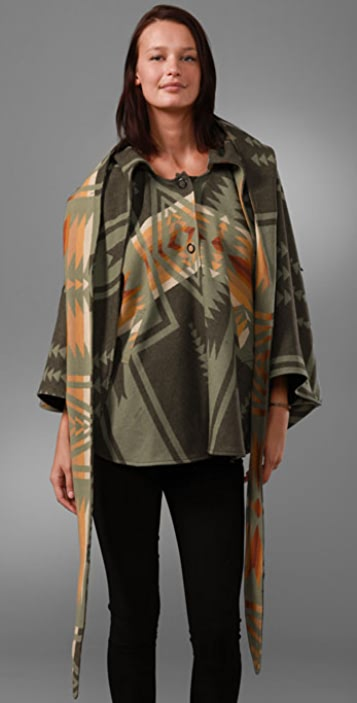 Lindsey Thornburg Pendleton Mini Cloak Jacket