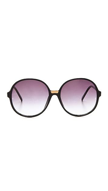 Linda Farrow Luxe Round Acetate Sunglasses