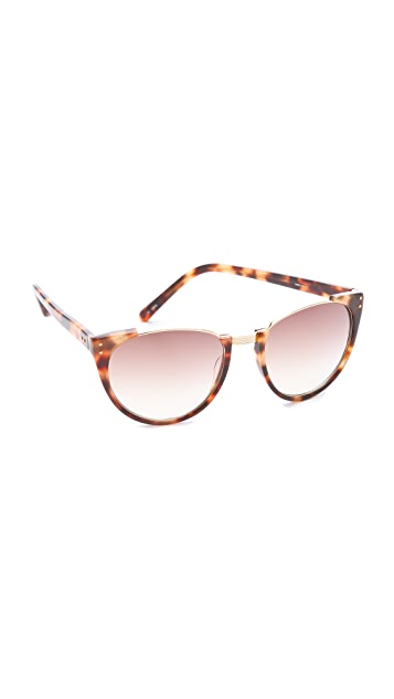 Linda Farrow Luxe Half Moon Sunglasses