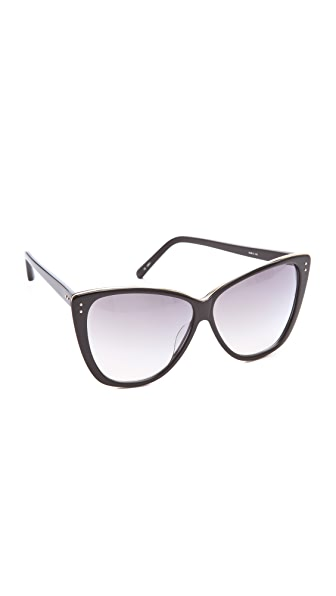 Linda Farrow Luxe Square Cat Eye Sunglasses
