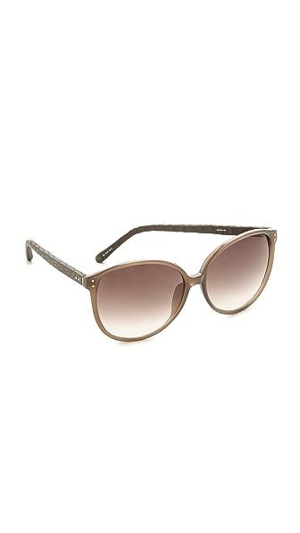 Linda Farrow Luxe Oversized Snakeskin Sunglasses