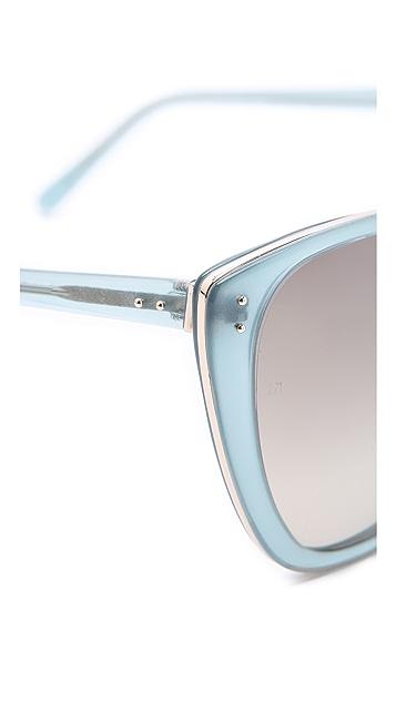 Linda Farrow Luxe Oversized Cat Eye Sunglasses