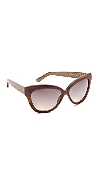 Linda Farrow Luxe Leather Sunglasses