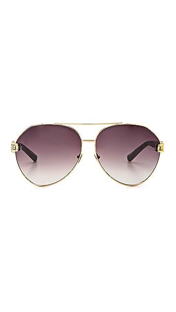Linda Farrow Luxe Snakeskin Sunglasses