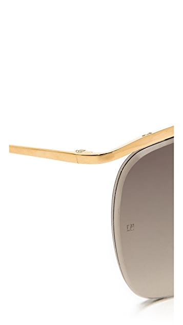 Linda Farrow Luxe Cut Lens Sunglasses
