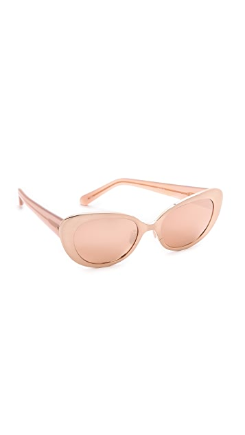 Linda Farrow Luxe Cat Eye Sunglasses