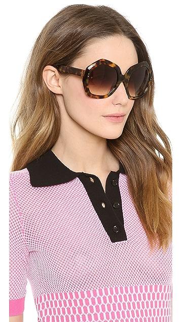 Linda Farrow Luxe Geometric Sunglasses