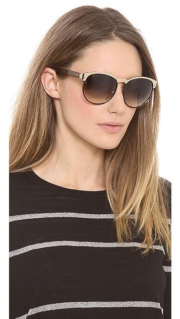 Linda Farrow Luxe Windsor Rim Sunglasses