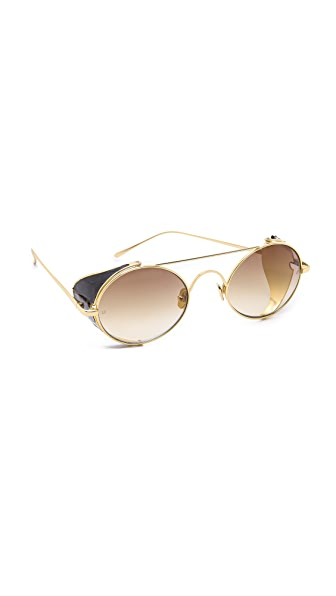 Linda Farrow Luxe Snake Inlay Sunglasses