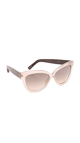 Linda Farrow Luxe Snakeskin Arm Sunglasses
