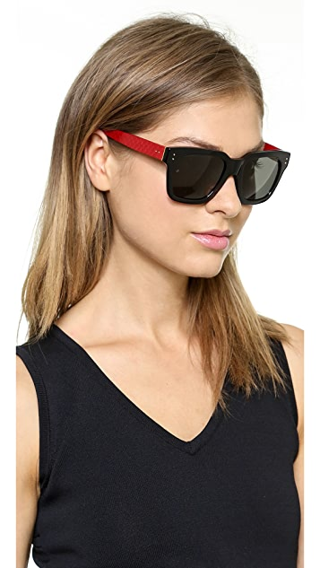 Linda Farrow Luxe Snakeskin Two Tone Sunglasses