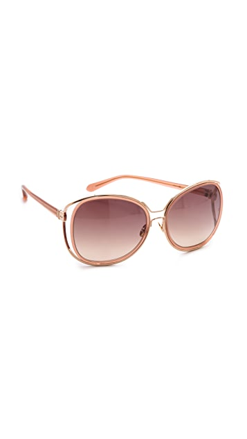 Linda Farrow Luxe Oversized Gradient Sunglasses