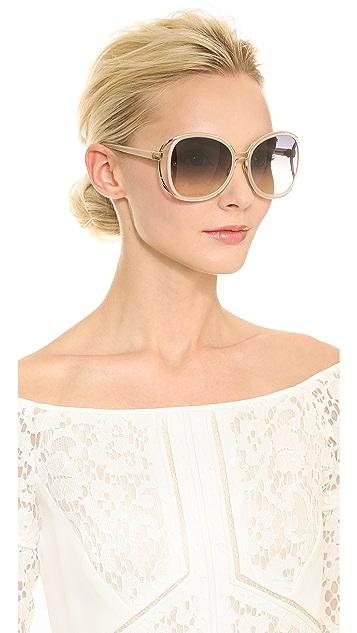 Linda Farrow Luxe Oversized Gradient Sunglasses