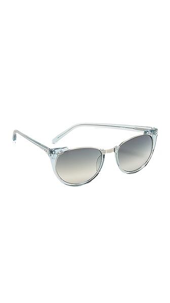 Linda Farrow Luxe Rimless Top Sunglasses