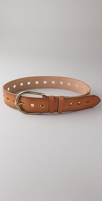 Linea Pelle Vintage Oversized Hole Belt