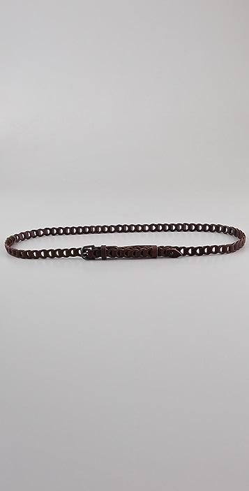 Linea Pelle Vintage Linked Skinny Belt