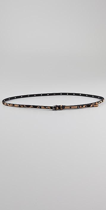 Linea Pelle Stud Haircalf Belt