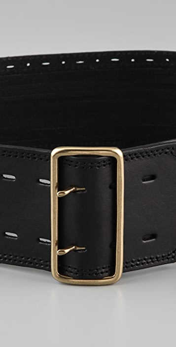 Linea Pelle Sliced & Perforated Waist Belt