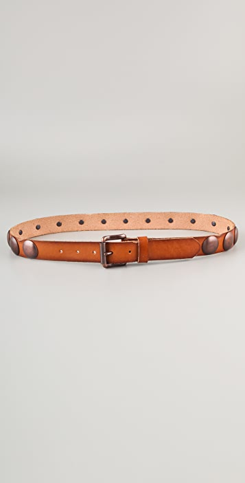 Linea Pelle Vintage Dome Studs Hip Belt