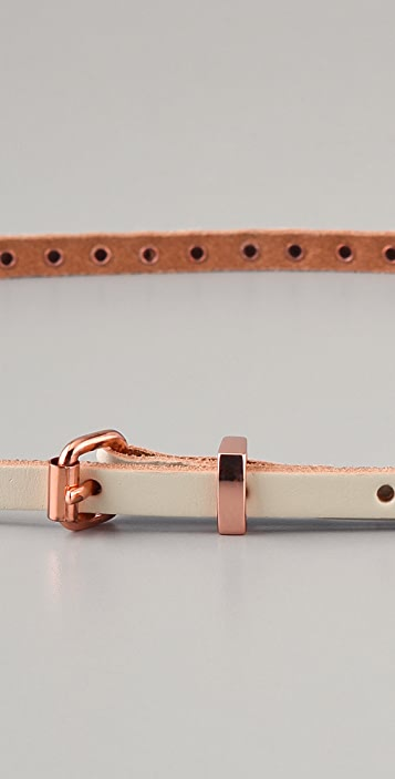 Linea Pelle Ricky Skinny Flat Studded Belt