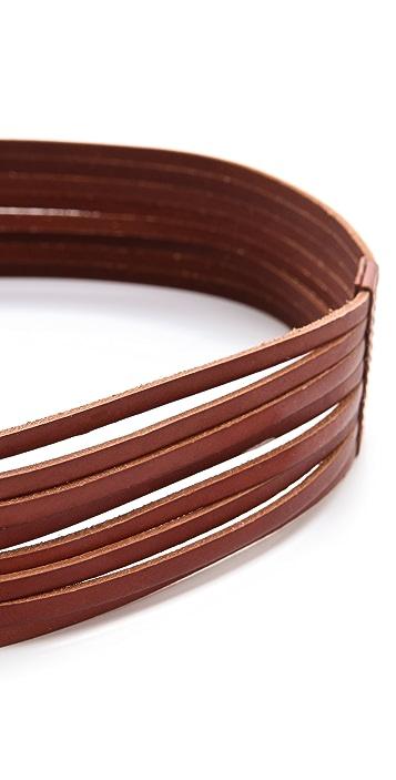 Linea Pelle Luna Sliced D Ring Belt