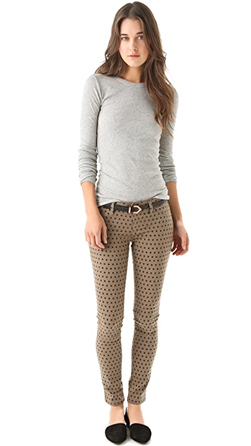 Linea Pelle Avery Skinny Belt with Chevron
