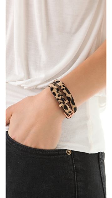 Linea Pelle Haircalf Double Wrap Bracelet